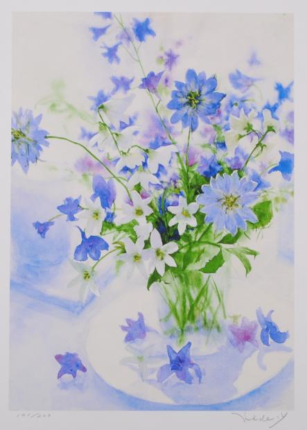 MOTOKAWA          花の絵をジークレーの版画で制作した山口英明の作品「夏の花」を通販で販売しています。